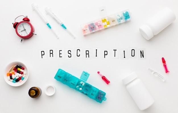 Frame of pills prescripted