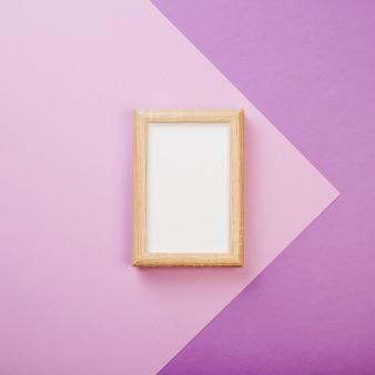 Frame on purple background