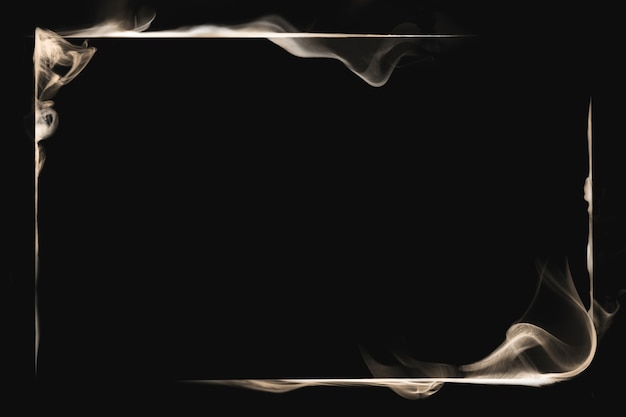 Frame smoke textured background, black abstract design