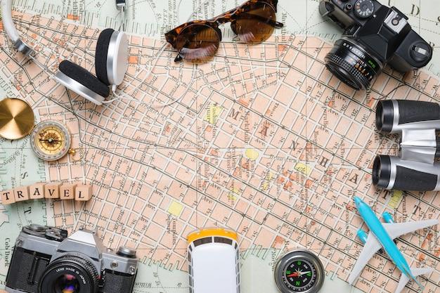 Frame of travel elements