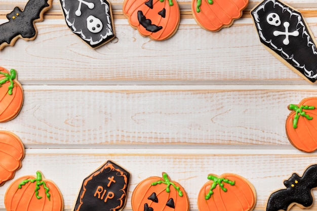 Frame treats with halloween theme