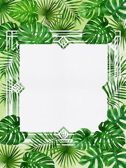 Frame of tropical plant