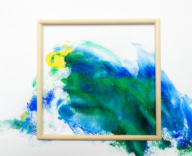 Frame watercolor art hand paint abstract and background or wallpaper