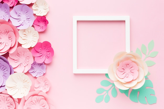 Frame with floral paper decoration