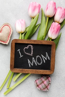 Frame with message for mothers day event