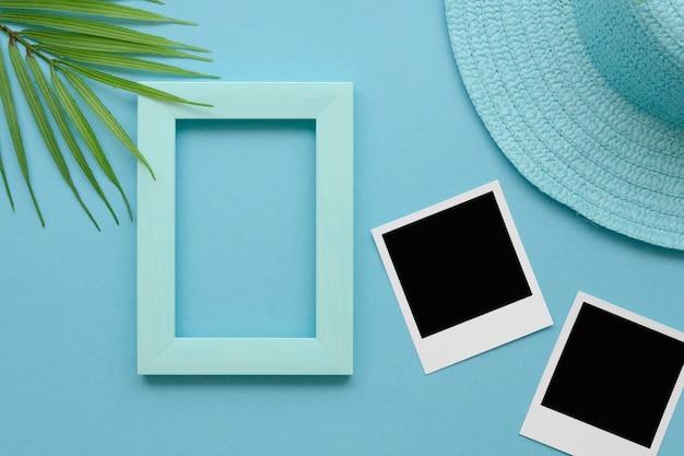 Рамка с фотографиями и шляпой