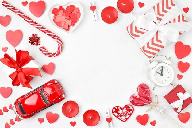 バレンタインデーの休日のテキスト用のスペースのあるフレーム。