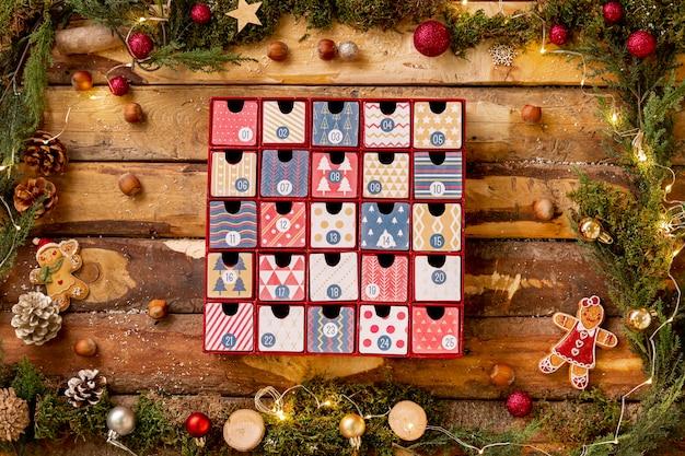 Рамка с тематическим видом на рождество