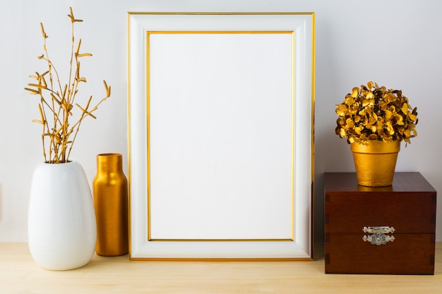 Frame  with wooden box