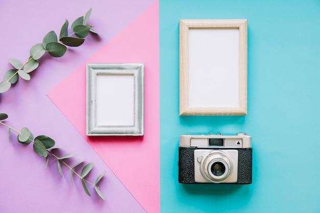Frames and camera