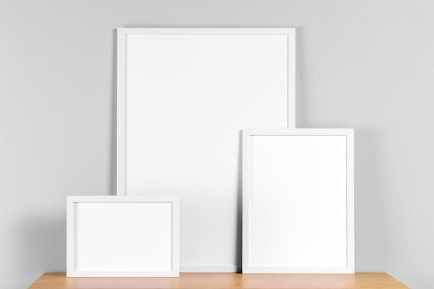 Рамки макет на столе