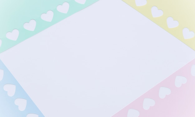 Frames in shapes of little paper hearts