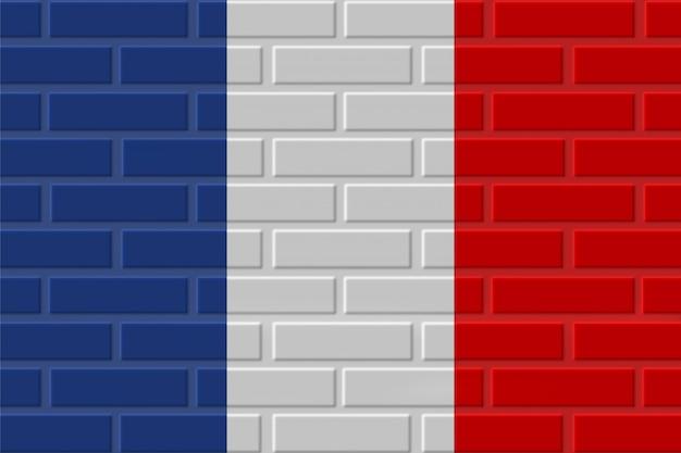 France brick flag illustration