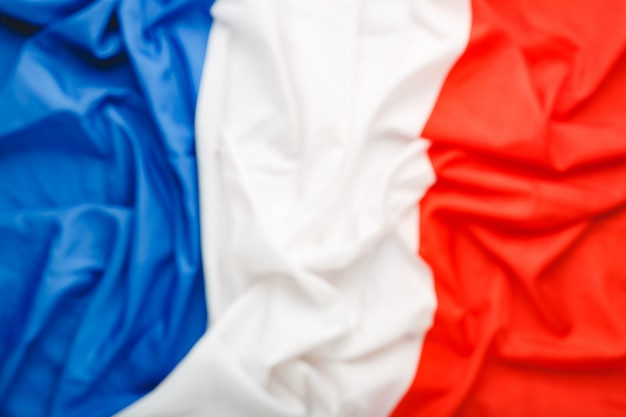 France flag background blurred for design. french national flag as symbol of democracy, patriot. closeup texture flag france.stock photo