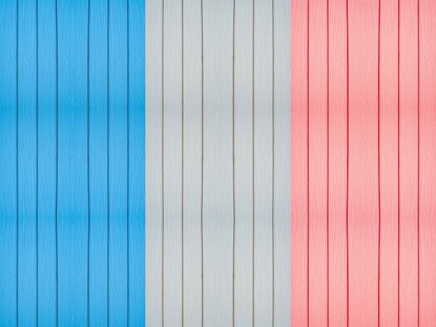 France flag on wood background.