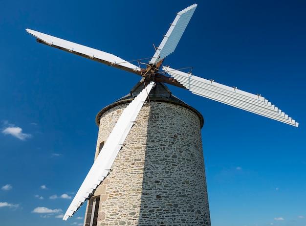프랑스, 노르망디의 pontorson에있는 moidrey 풍차