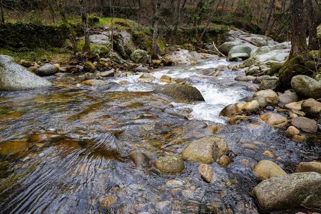 Francia river. landscape in the batuecas natural park. spain.