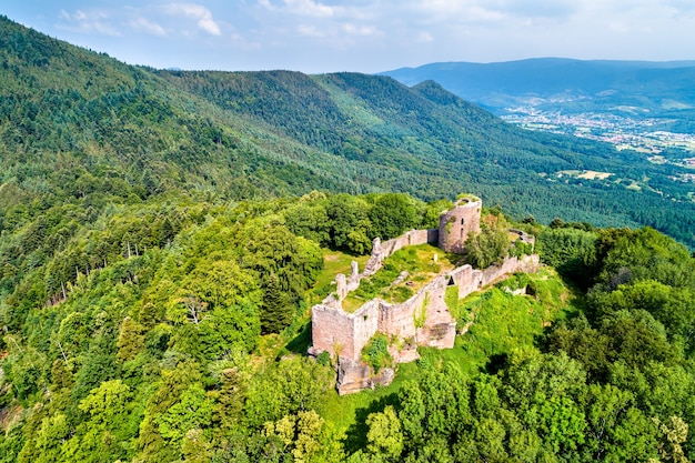 Frankenbourg castle in the vosges mountains, the bas-rhin department of france