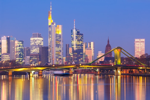 Frankfurt am main in the morning, germany