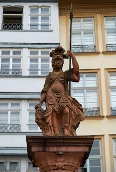 Frankfurt justitia lady justice in romerberg sq
