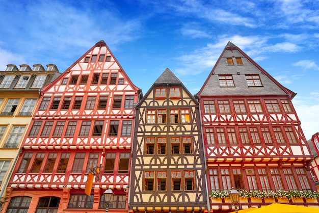 Frankfurt romerberg square old city germany