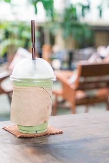 Молочный зеленый чай frappe