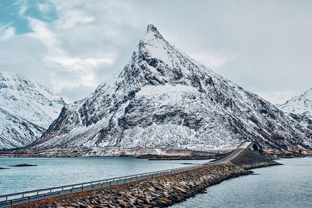Fredvang bridges. lofoten islands, norway