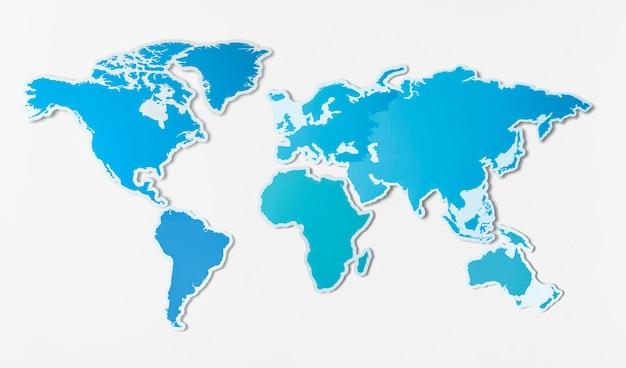 アジアの無料の白地図