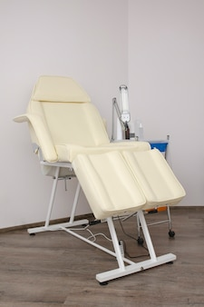 Free chair for pedicure in the beauty salon.