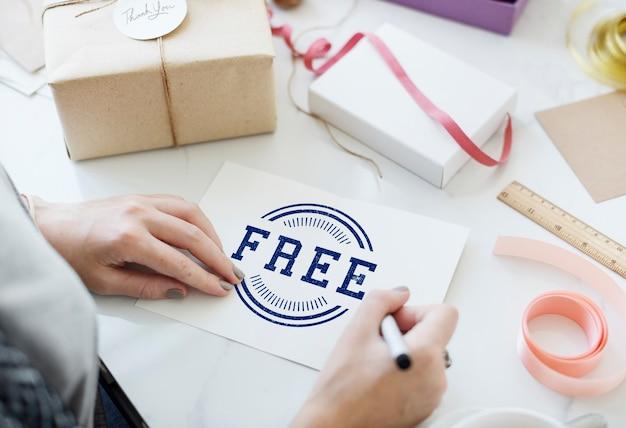 Концепция рекламы знак свободной продажи