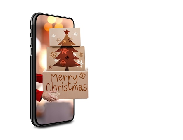 Free shipping concept for christmas
