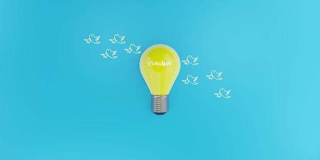 思想の自由、創造的なアイデア、イノベーションのコンセプト