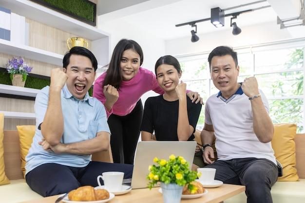 Freelance team celebrate