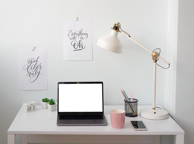 Freelancer desk at home