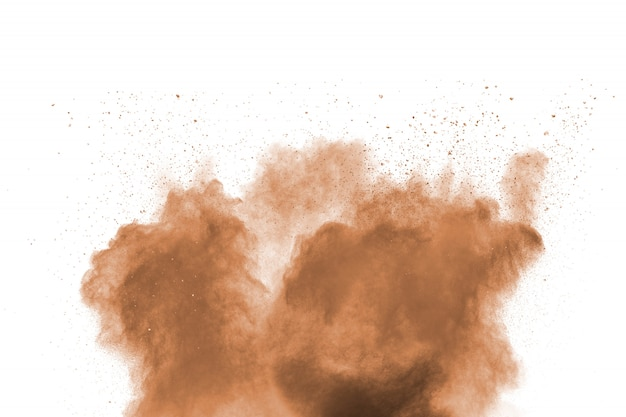 Freeze motion of brown dust explosion.