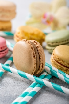 French assorted macarons