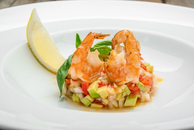 French bouillabaisse fish soup with seafood