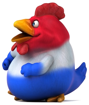 French chick - 3d illustration