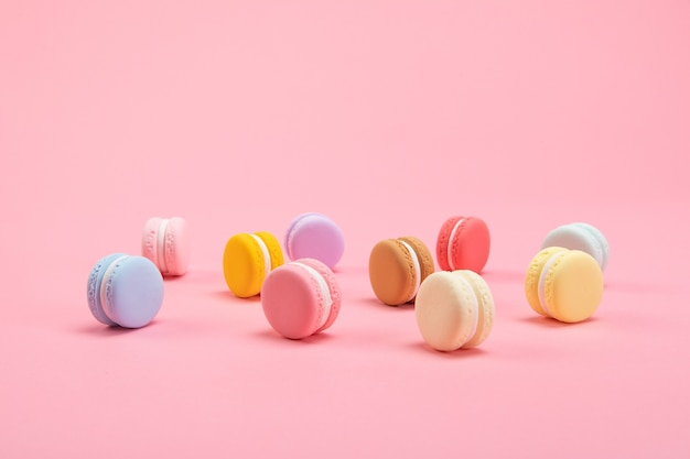 The french dessert macaron is a taste of love