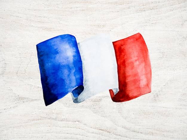 French flag. . close up