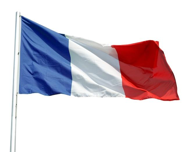 Французский флаг изолирован