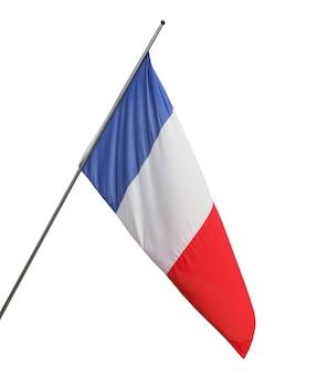 孤立したフランスのフランス国旗