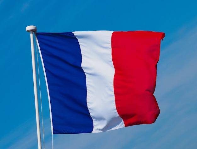 푸른 하늘 위에 프랑스의 프랑스 국기