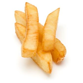 흰색 배경에 고립 된 감자 튀김