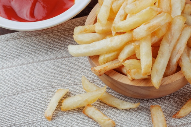 French fries in a bowl.