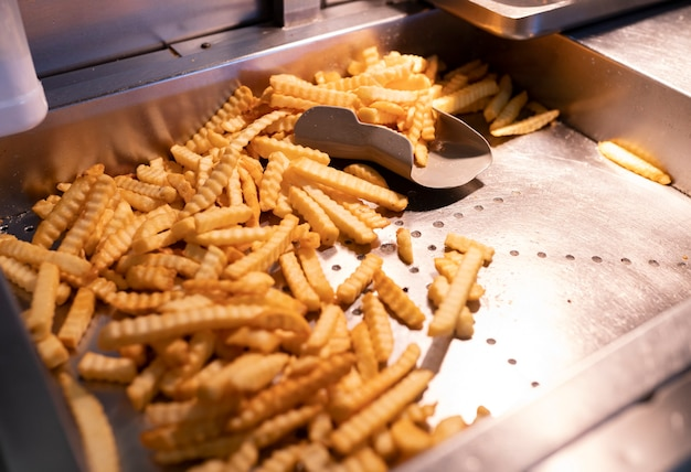 French fries fresh from the fryer