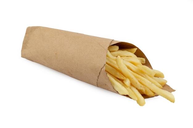 Картофель фри в бумажной обертке
