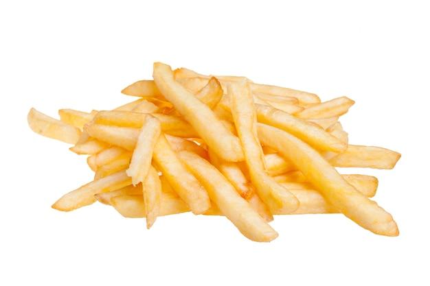 Картофель фри, изолированные на белом фоне