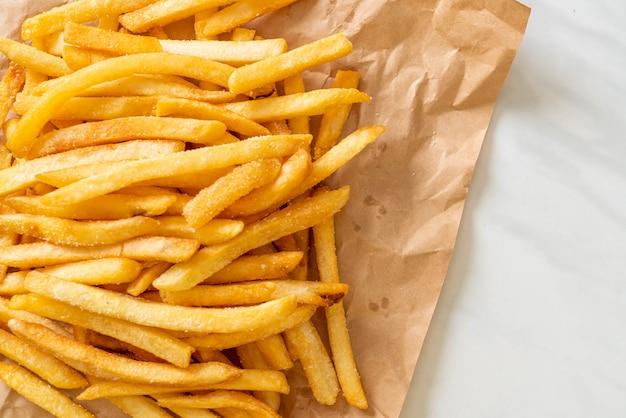 Картофель фри или картофельные чипсы фон