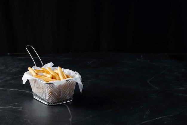 French fries. restaurant